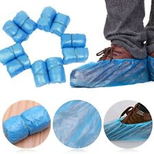 100x Disposable Plastic Anti Slip Shoe Bag Covers Cleaning Overshoes Protective