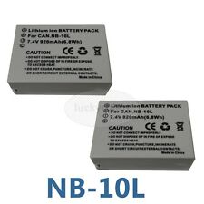 2pk NB-10L  BATTERY PACK FOR CANON POWERSHOT SX50 HS / POWERSHOT G16