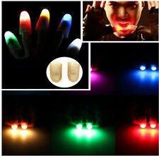 2Pcs party Magic Light Up Thumbs Fingers Trick Appearing Light Close Up New-2015