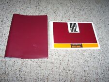 1967 Porsche 912 Factory Owner's Owner User Manual Guide Book w/ Case