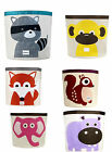 Doomagic Large Toy Storage Bin Organizer Kids fox hippo Monkey Raccoon elephant