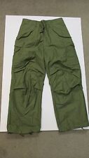 US M65 OG 107 FIELD TROUSERS PANTS SATEEN SMALL SHORT 1976 DATED NOS VIETNAM