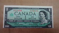 Canadian 1967 $1 Error Note Bill Paper Money, Bank Of Canada