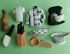 MASTER CHEF Cooking Cook Baking Tray Cake Mixer Kitchen Dress It Up Craft Button