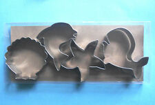 Ocean Sea Creature Whale Shell Starfish Dolphin Fondant  cookie cutter set