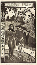 Gauguin Woodcuts: Nave Nave (Delightful Land) - Fine Art Print