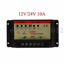 10A 12V/24V PWM Solare Pannello Batteria Regolatore di Carica Controllore
