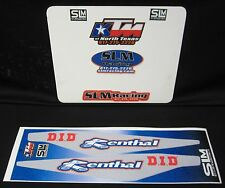 KTM RENTHAL D.I.D SWINGARM TEXTURED GRAPHICS STICKERS NON PDS BIG BIKES MX DIRT