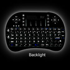Rii i8+ 2.4GHz Mini Mobile Wireless Keyboard With Touchpad Mouse , Backlit LED