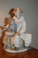 RARE Auction LLADRO Nao ZAPHIR Lesson of Music # 701 Clown Boy Accordian MINT!