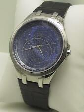 Accurist Gents CELESTI Orologio Quadrante Blu Braccialetto Orologio gmt118uk RRP £ 350