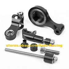 CNC Steering Damper Stabilizer Bracket Mounting Holder For Yamaha YZF-R6 06-12