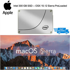 INTEL 300GB SSD Apple Macbook Pro Mac Mini iMac Pre Loaded OSX Sierra 10.12 250
