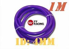 "4mm 3/16"" Silicone Vacuum Tube Hose Silicon Tubing Silicon 3FT 1M Meter Purple"