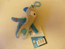 London 2012 Mandeville Soft Toy Key Ring 12cm tall -New With Hologrammed Tag
