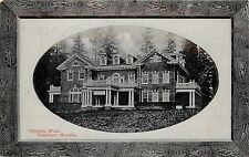 1910 PNC Postcard Frame Vignette Olympia WA Governor's Mansion Thurston County