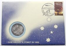 1986 Colony Australia Halley's Comet Commemorative First Day Cover PNC