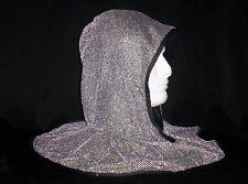 Silver Mesh Fake Chainmail Armor Knight Costume Hood Coif Noble Sir Medieval Cap