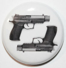 "1"" (25mm) Hand Guns / Pistols Button Badge Pin - High Quality - MADE IN UK"