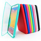 For SamsungGalaxyNote III 3 TPU Wrap Up Case Cover w/Built in Screen Protector