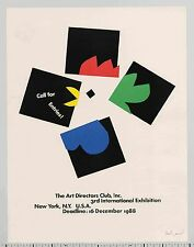 1998 Paul Rand ART DIRECTORS CLUB 3rd Int'l Exhibition Call For Entries POSTER
