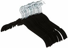 NEW!! AmazonBasics Shirt/Dress Hangers, Velvet - Black, Set of 30