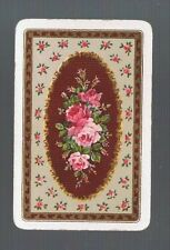 Playing Swap Cards 1 VINT  FRAMED  BOUQUET OF PINK  ROSES  EXQUISITE DETAIL 426