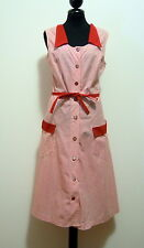 CULT VINTAGE '70 Abito Vestito Donna Pin Up Cotton Woman Dress Sz.M - 44