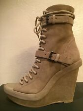 ANN DEMEULEMEESTER Lace Up Ankle Strappy Wedge Sandal Open Toe Boots Size 41