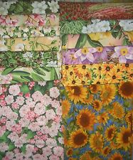 13 FQ  Northcott State Flowers QUILT, Sew Fabric -