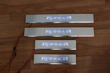 FORD RANGER T6 PICKUP 2012 - 2017 BLUE LED SILL SCUFF PLATE STAINLESS STEEL 15