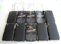 25 x Cygnett Black Shell Case & Screen Guard for BlackBerry Curve 8520 & 9300 3G