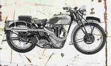 Triumph Tiger80 1939 Aged Vintage SIGN A4 Retro