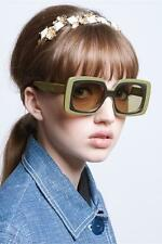 Karen Walker Hothouse Sunglasses | Rectangular | Khaki, Gold | Polarize $450 RRP