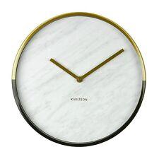 Karlsson Wanduhr MARBLE DELIGHT gold white - Die coole Designuhr in Marmor-Optik
