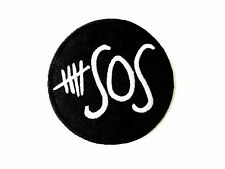 """5 SOS Seconds Of Summer Embroidered Iron On Patch Badge 2.9""""/7.4m"""