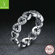 2016 New Arrinal 925 Silver Infinite Love Finger Ring For Women XMAS Size 6 Ring