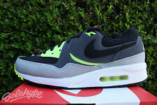 NIKE AIR MAX LIGHT ESSENTIAL SZ 10.5 BLACK DARK GREY VOLT WHITE 631722 007