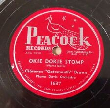 CLARENCE GATEMOUTH BROWN on PEACOCK 1637 - Okie Dokie Stomp - Blues 78