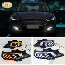 LED Daytime Running Light DRL Fog lamp for Ford Fusion 2013-2016 Yellow Singal
