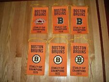 "11"" x 6"" Bruins Stanley Champs Champions Boston Garden Mini BANNER SET 2011 1972"