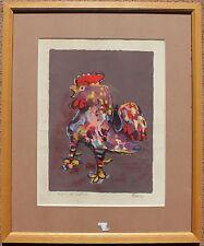 Lithographie de Pierre BOSCO signée épreuve d'artiste coq - Oeuvre encadrée