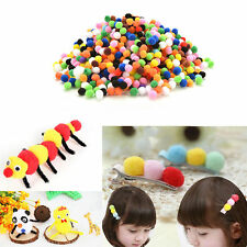 1000Pcs 10mm Mixed Color Soft Fluffy Pom Poms for Kids Crafts