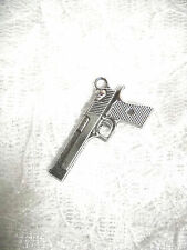 NEW SHOOTER 9MM PISTOL GUN PENDANT ADJ NECKLACE OR BELLY BUTTON RING YOUR CHOICE