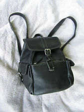 Exceptional J. Crew Black Leather Book Bag Backpack Purse beautiful leather EUC