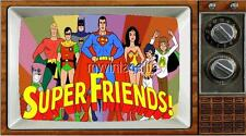"SUPER FRIENDS TV Fridge MAGNET  2"" x 3"" art SATURDAY MORNING CARTOONS"