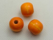 50 Orange Round Wood Beads 16mm~Large Wooden Beads