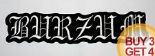 1BURZUM WT BACK PATCH,BUY3GET4,BATHORY,EMPEROR,MAYHEM,TAAKE,VARG,IMMORTAL,MGLA