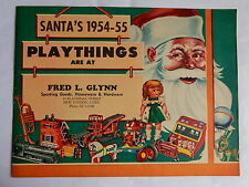 Circa 1954-55 VINTAGE TOY CHRISTMAS CATALOG American Dolls Cars Santa Claus MINT