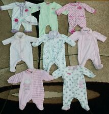 Lot of 8 Baby Girl Onepiece Footie Jumper Bodysuit Jumpsuit Size NB,0-6 month